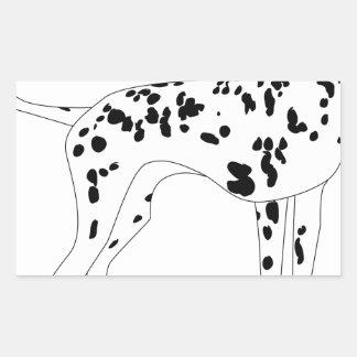 Sticker Rectangulaire Chien de Dalmation