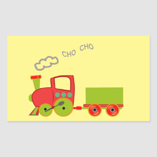 Sticker Rectangulaire choo de choo de train