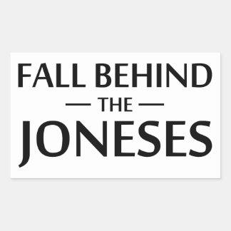 Sticker Rectangulaire Chute derrière le Joneses