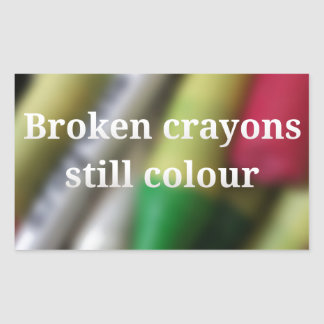 Sticker Rectangulaire Citation cassée de crayons