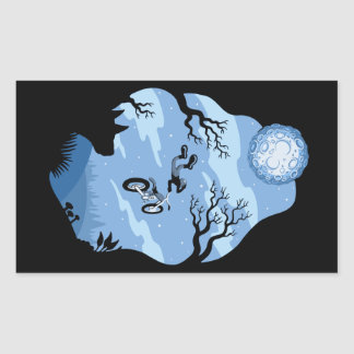 Sticker Rectangulaire Clair de lune Hangin