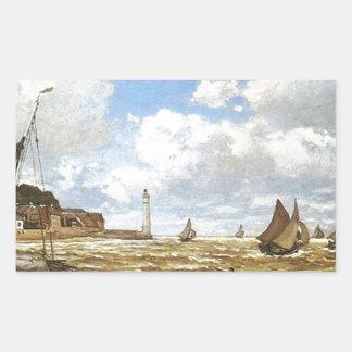 Sticker Rectangulaire Claude Monet - bouche de l'illustration de la