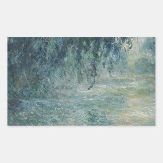Sticker Rectangulaire Claude Monet - matin sur l'oeuvre d'art de la