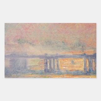 Sticker Rectangulaire Claude Monet - Saint Louis de pont croisé de