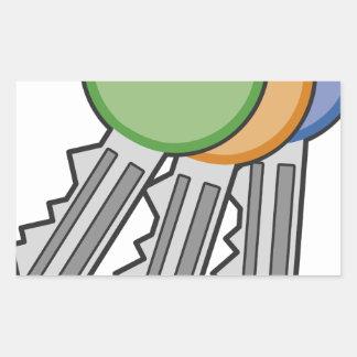 Sticker Rectangulaire Clés
