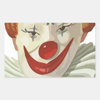 Sticker Rectangulaire clown effrayant