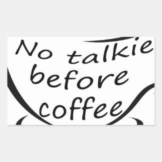 Sticker Rectangulaire coffee22