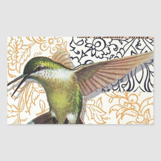 Sticker Rectangulaire Colibri