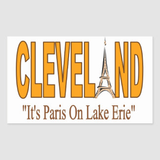 Sticker Rectangulaire Collage avec Cleveland