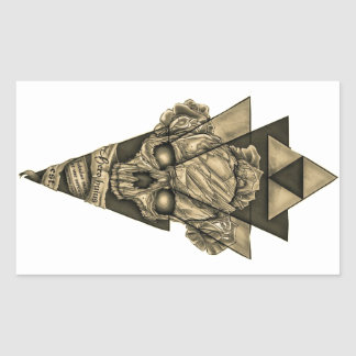 """Sticker Rectangulaire Colle rectangulaire «Crâne pyramide """""""