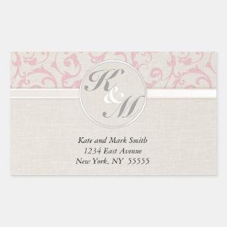 Sticker Rectangulaire Collection rose de mariage de SmartElegance