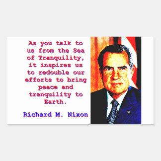 Sticker Rectangulaire Comme vous nous parlez - Richard Nixon