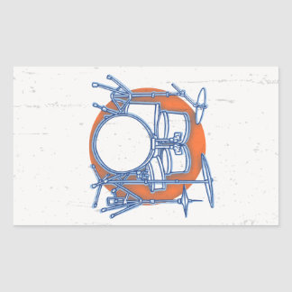 Sticker Rectangulaire Compensation de kit de tambour
