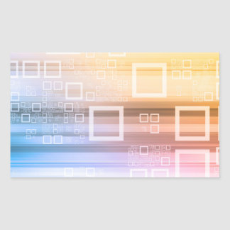 Sticker Rectangulaire Concept du trafic de train de données de données