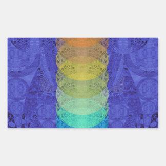 Sticker Rectangulaire Conception de tapisserie de Chakra de yoga