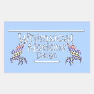 Sticker Rectangulaire Conception lunatique de notions