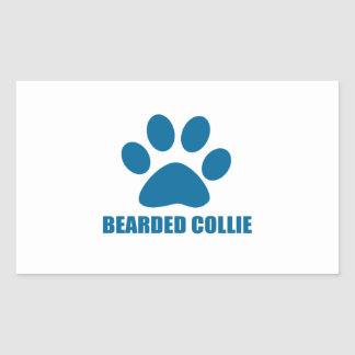 STICKER RECTANGULAIRE CONCEPTIONS BARBUES DE CHIEN DE COLLEY