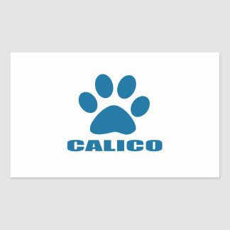 STICKER RECTANGULAIRE CONCEPTIONS DE CAT DE CALICOT