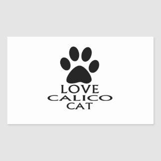 STICKER RECTANGULAIRE CONCEPTIONS DE CAT DE CALICOT D'AMOUR