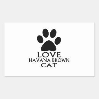 STICKER RECTANGULAIRE CONCEPTIONS DE CAT DE LA HAVANE BROWN D'AMOUR