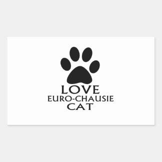 STICKER RECTANGULAIRE CONCEPTIONS DE CAT DE L'AMOUR EURO-CHAUSIE