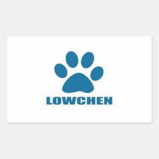 STICKER RECTANGULAIRE CONCEPTIONS DE CHIEN DE LOWCHEN