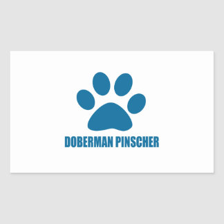 STICKER RECTANGULAIRE CONCEPTIONS DE CHIEN DE PINSCHER DE DOBERMANN