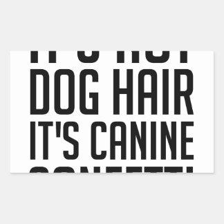 Sticker Rectangulaire Confettis canins