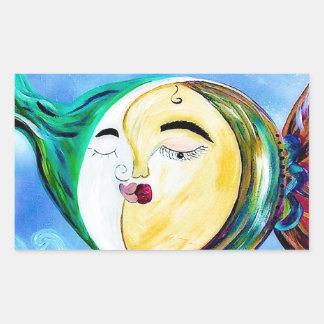 Sticker Rectangulaire Connexion rêveuse d'amour