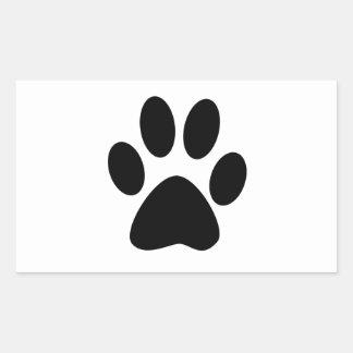 Sticker Rectangulaire Copie de chien