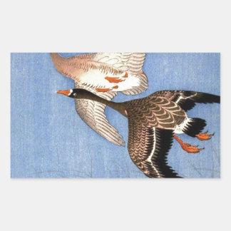 Sticker Rectangulaire Copie vintage des oies de vol