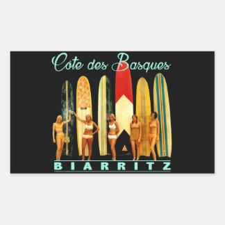 Sticker Rectangulaire Côte des Basques Biarritz