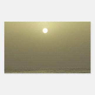 Sticker Rectangulaire Coucher du soleil