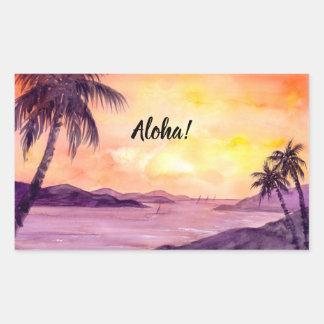 Sticker Rectangulaire Coucher du soleil dans les tropiques par Farida