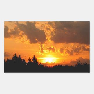 Sticker Rectangulaire Coucher du soleil d'île de St Joseph