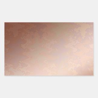 Sticker Rectangulaire Couleur de cuivre   de glacière du BRISEUR 3d de