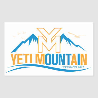 Sticker Rectangulaire Couleur du Colorado 2017 de montagne de YetiMan