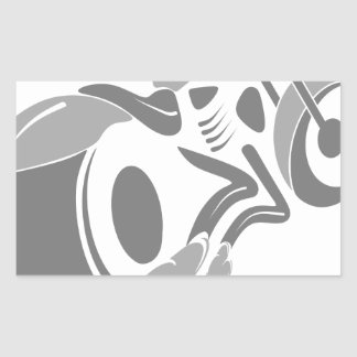 Sticker Rectangulaire Couperet de moto