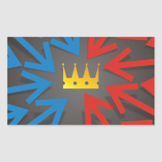 Sticker Rectangulaire Couronne d'or
