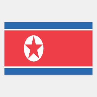 Sticker Rectangulaire Coût bas ! Drapeau de la Corée du Nord