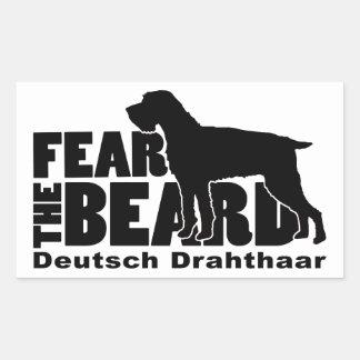 Sticker Rectangulaire Craignez la barbe - vitesse d'Allemand Drahthaar