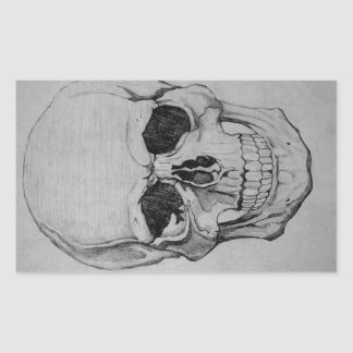 Sticker Rectangulaire crâne