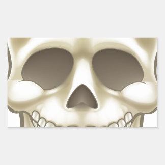 Sticker Rectangulaire Crâne de bande dessinée