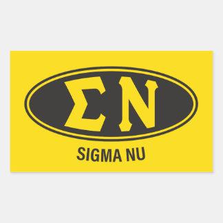 Sticker Rectangulaire Cru du NU   de sigma