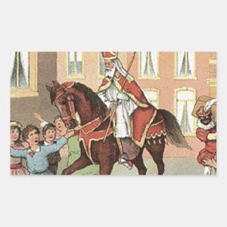 Sticker Rectangulaire Cru néerlandais Saint-Nicolas de St Nick de
