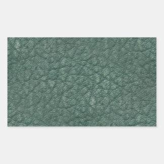 Sticker Rectangulaire Cuir vert antique de Faux