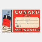Sticker Rectangulaire CUNARD  Line