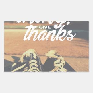 Sticker Rectangulaire Dans tout donnez les mercis