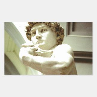 Sticker Rectangulaire David - l'image éternelle de Florence