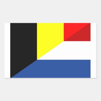 Sticker Rectangulaire de drapeau de pays de drapeau de la Belgique de